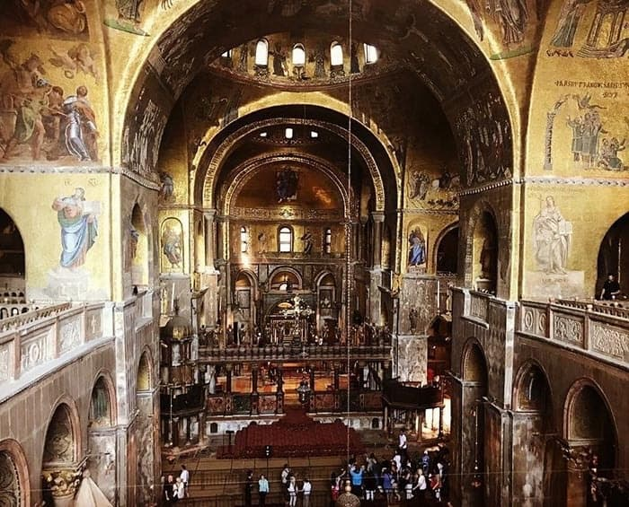 Interior of St Mark's Basilica