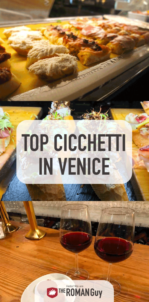Find out where to eat the best cicchetti in Venice, Italy. Traditional finger foods, authentic venetian cuisine, cheap eats in Venice! The Roman Guy Italy Tours