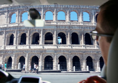 transfers in rome in front of the colosseum special access