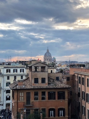 places to watch the sunset in Rome - Trinita dei monti